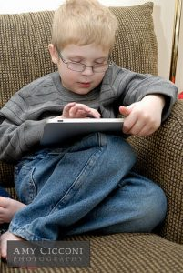boy on tablet